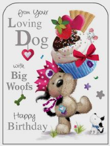 From Your Loving Dog Birthday Card
